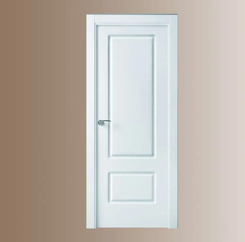 Puertas blancas de madera modelo 212 for Precios puertas interior blancas