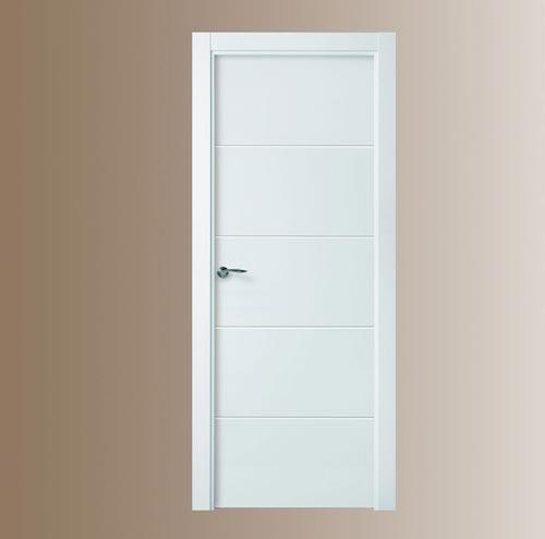 Puertas blancas de madera modelo 8500 for Oferta puertas blancas interior