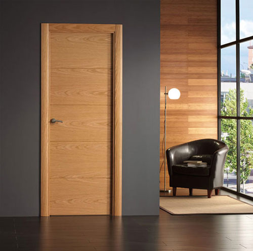 Puertas de interior modernas de madera modelo 8500 for Precio puertas interior madera maciza