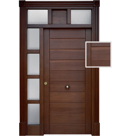 Puertas modernas de exterior madera para exteriores for Disenos de puertas para casas modernas