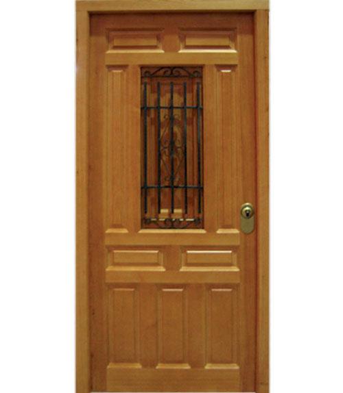 Puertas de exterior de madera modelo e 6 for Puerta de madera exterior usada