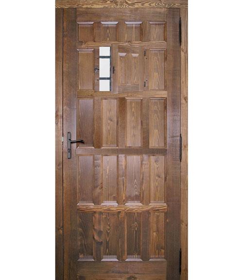 Puertas r sticas de madera modelo r 10 vista interior for Puerta madera rustica