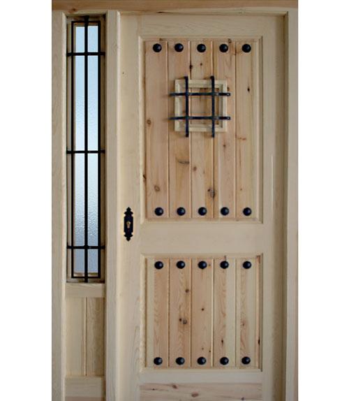 Puertas r sticas de madera modelo r 5 sin lacado - Puerta madera rustica ...